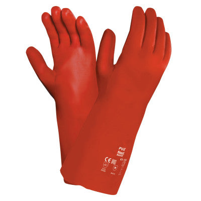 Polyvinyl Alcohol Gloves, Size 10, Red