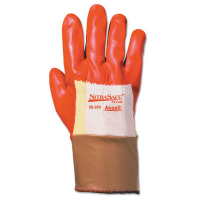 Nitrasafe Foam Gloves, 10, Orange