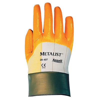Metalist Palm-Coated Gloves, Size 8.5, Golden Yellow