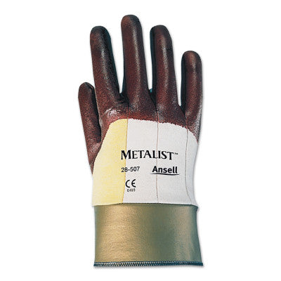 Hycron Nitrile Coated Gloves, 9, Brown