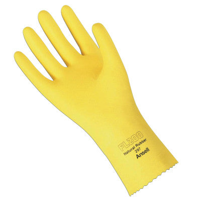 FL 200 Gloves, 8, Natural Latex, Lemon Yellow