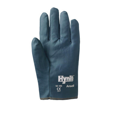 Hynit Nitrile-Impregnated Gloves, 10, Blue, Nitrile Coated Work Glove