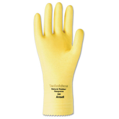 Technicians Gloves, Natural Latex/Neoprene Blend, Natural, 8