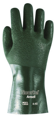 Snorkel PVC Coated Gloves, 10, Dark Green