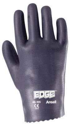 Edge Nitrile Gloves, Slip-On Cuff, Interlock Knit Lined, Size 8.5