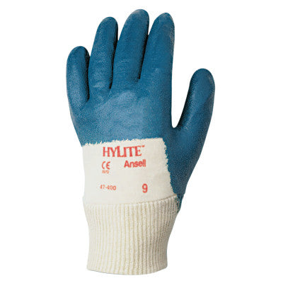 HyLite Palm Coated Gloves, 9, Blue