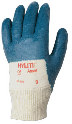 HyLite Palm Coated Gloves, 7, Blue