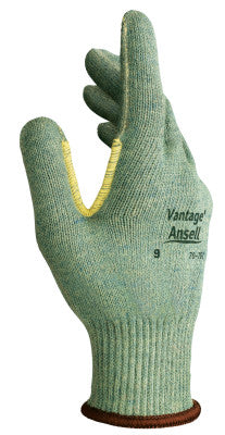 Vantage Heavy Cut Protection Gloves, Size 8, Mint, Knitted