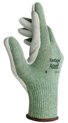 Vantage Heavy Cut Protection Gloves, Size 9, Mint, Leather