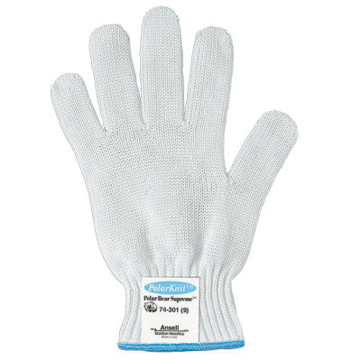 Polar Bear Supreme Gloves, Size 7, White