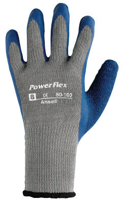 PowerFlex Gloves, 6, Blue/Gray
