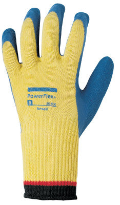 PowerFlex Plus Gloves, Size 9, Yellow/Blue