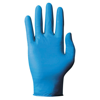 TNT Single-Use Gloves, Powdered, Nitrile, 5 mil, Large, Blue