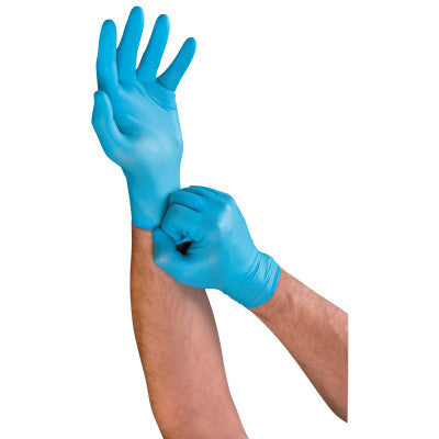 TouchNTuff Lightweight Nitrile Gloves, 3 mil, X-Large, Light Blue