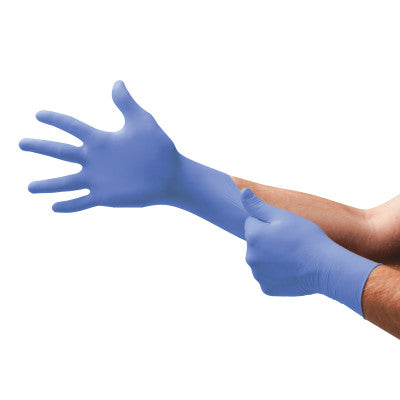 TNT Blue Disposable Gloves, Powder Free, Nitrile, 5 mil, Medium, Blue