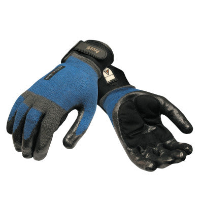 ActivARMR Heavy Laborer Gloves, Large, Black/Blue