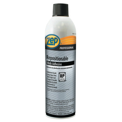 Repositionable Web Adhesive, 20 oz, Aerosol Can, Clear