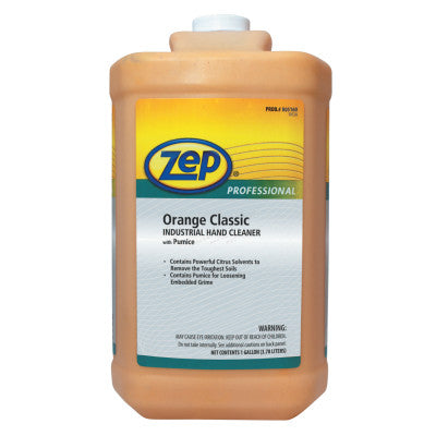 Orange Classic Industrial Hand Cleaner with Pumice, Orange, Bottle, 1 gal