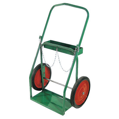 "Low-Rail Frame Dual-Cylinder Carts, For 8""-8.5"" dia., 14"" Solid Rubber/Steel Rim"