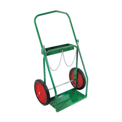 "Low-Rail Frame Dual-Cylinder Carts, Holds 9.5"" dia. 14"" Rubber/Steel Rim Wheels"