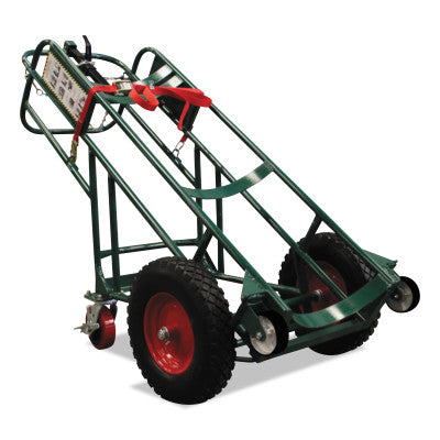 "Cryogenic Use Single-Cylinder Carts, 46 x 28"", 10 x 2.75"" Solid Wheel"