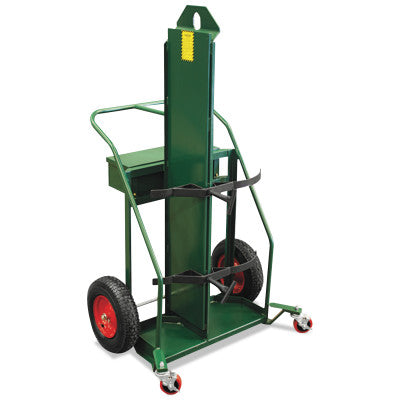 Patented Load-N-Roll Cylinder Carts with Built in Firewall, Rubber Wheels