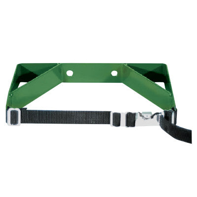 Cylinder Wall Brackets, Single with Strap, Steel, 7 in to 9 1/2 in, Green