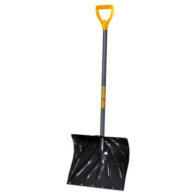 Poly Combo D-Grip Snow Shovels, 13 1/2 in x 18 in, Square Point Blade