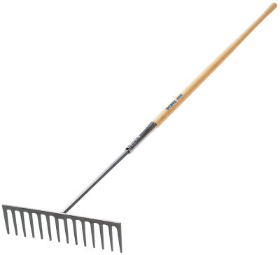 Industrial Rake, 16 1/2 in Forged Steel Blade, 60 in White Ash Handle