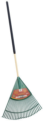 Lawn Rake, 24 in Plastic Blade, 48 in White Ash Handle
