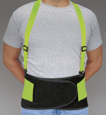 Economy Hi-Viz Back Supports, Medium, Lime Green