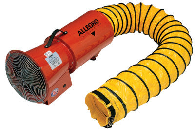 DC Axial Blowers w/Canister, 1/4 hp, 12 VDC, 15 ft. Ducting