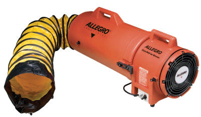 Plastic Com-Pax-Ial Blowers w/Canisters, 1/3 hp, 115 VAC, 25 ft. Ducting