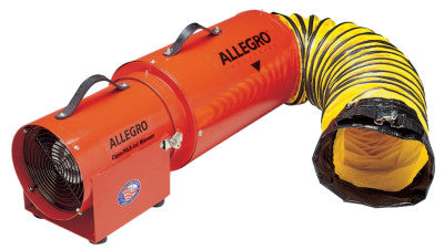 AC Com-Pax-Ial Blowers w/Canister, 1/3 hp, 115 V, 15 ft. Ducting