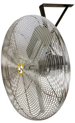 Commercial Non-Oscillating Air Circulator, Wall/Ceiling, 30 in, 1/4 hp, 3-Speed