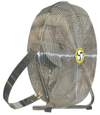 High Velocity Low Stand Fans, Swivel, Yoke Mount, 18 in, 1/8 hp, 3-Speed