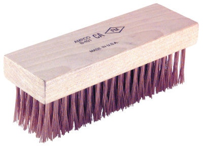 Scratch Brushes, 7 1/4 in, 6 X 19 Rows,Flat Handle