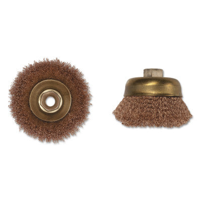 Crimped Wire Cup Brush, 6 in Dia., 5/8-11 Arbor, .014 in Wire