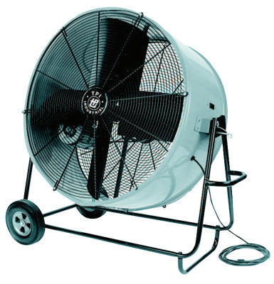 Industrial Belt Drive Portable Blowers, 4 Blades, 36 in, 500 rpm