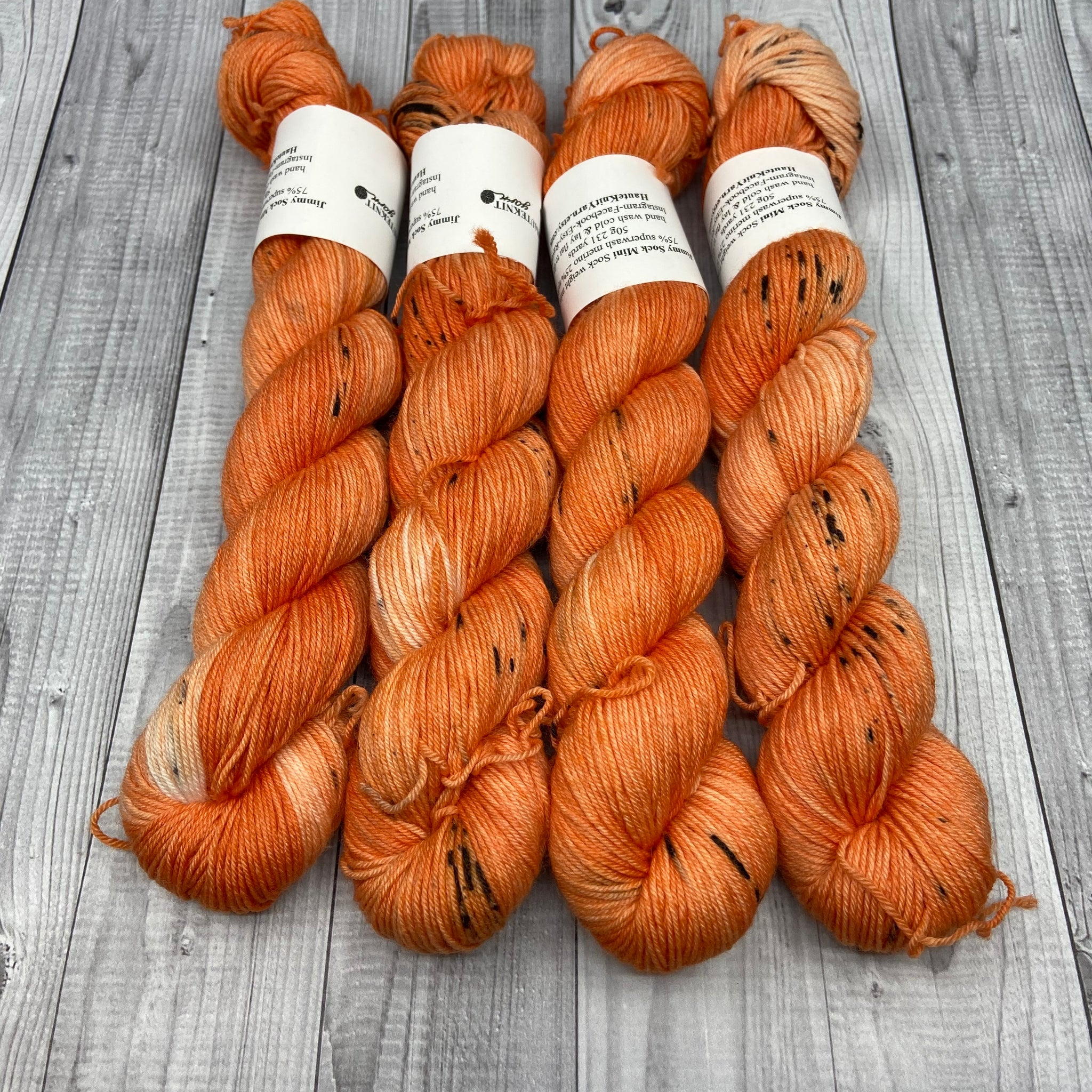 Jimmy Sock- 50g - Mini Skein - Carving Pumpkins