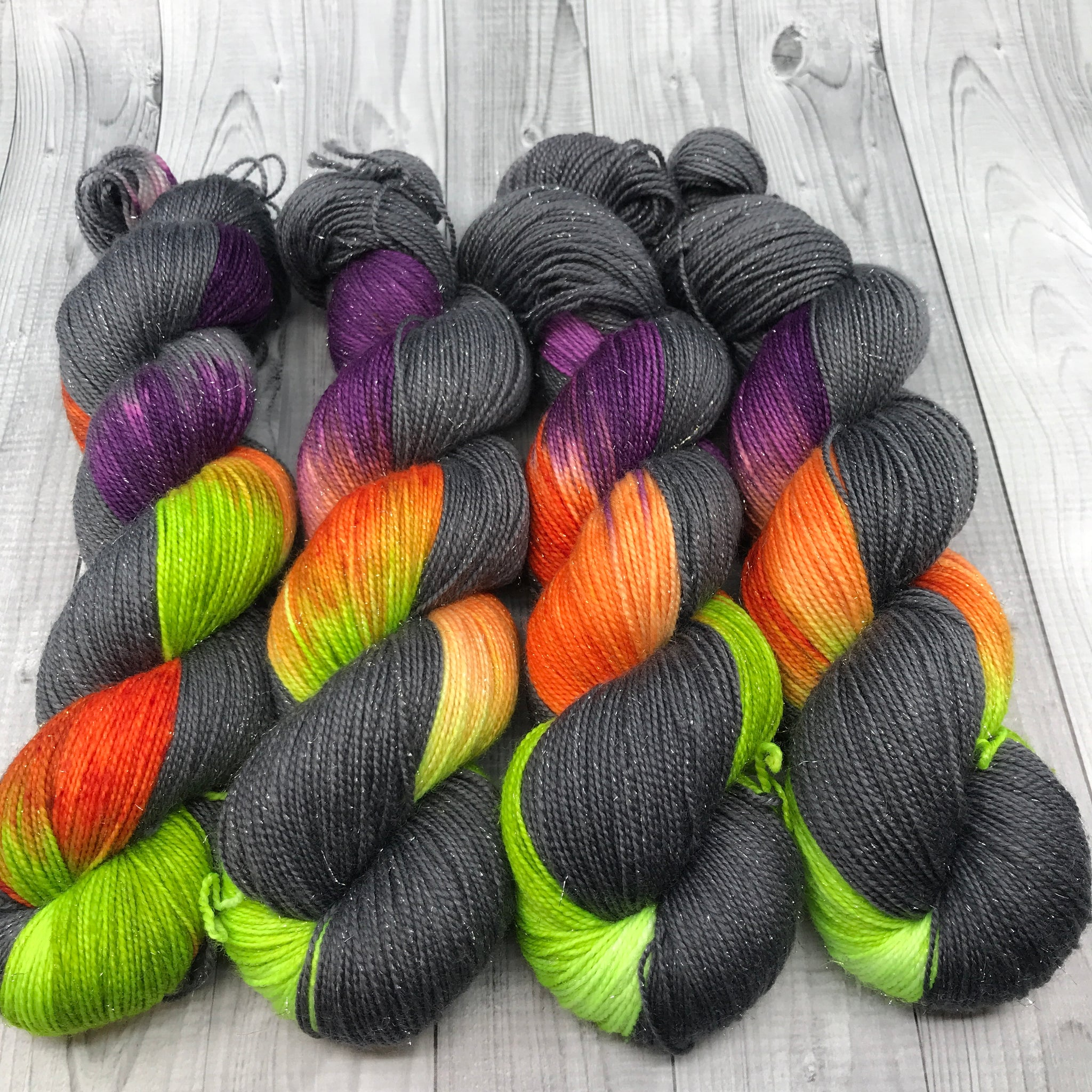 Pnina Sparkle Sock - Halloween Yarn - Bat Country