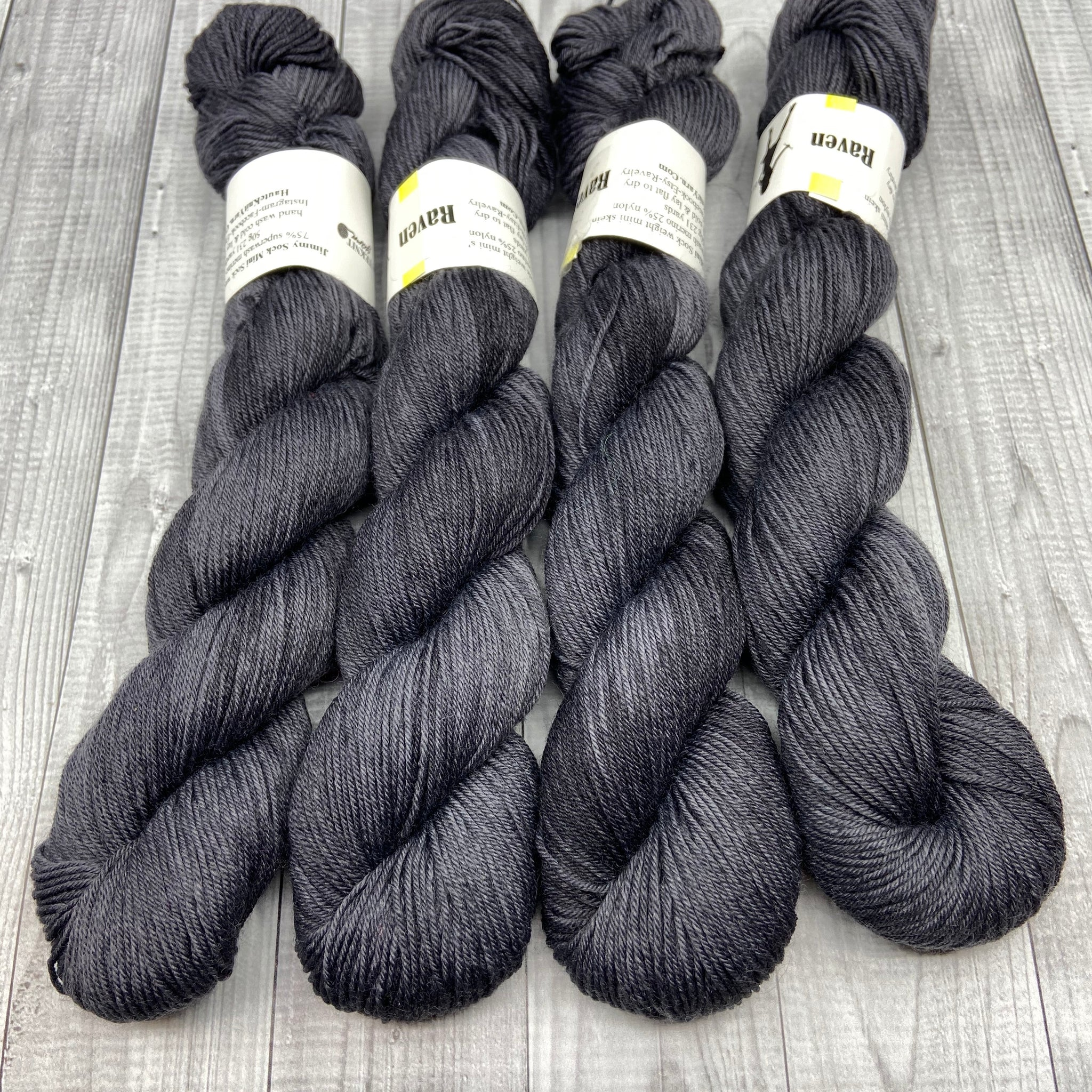 Jimmy Sock- 50g - Mini Skein - Raven