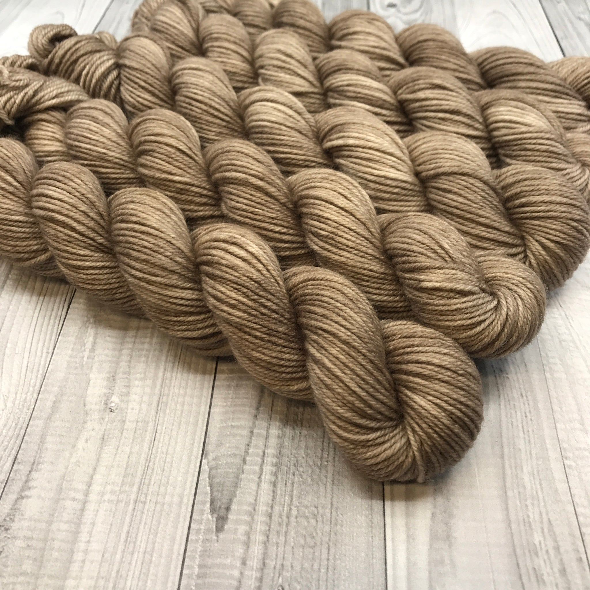 Trevor Morgan DK - Mini Skein- Cream In Coffee