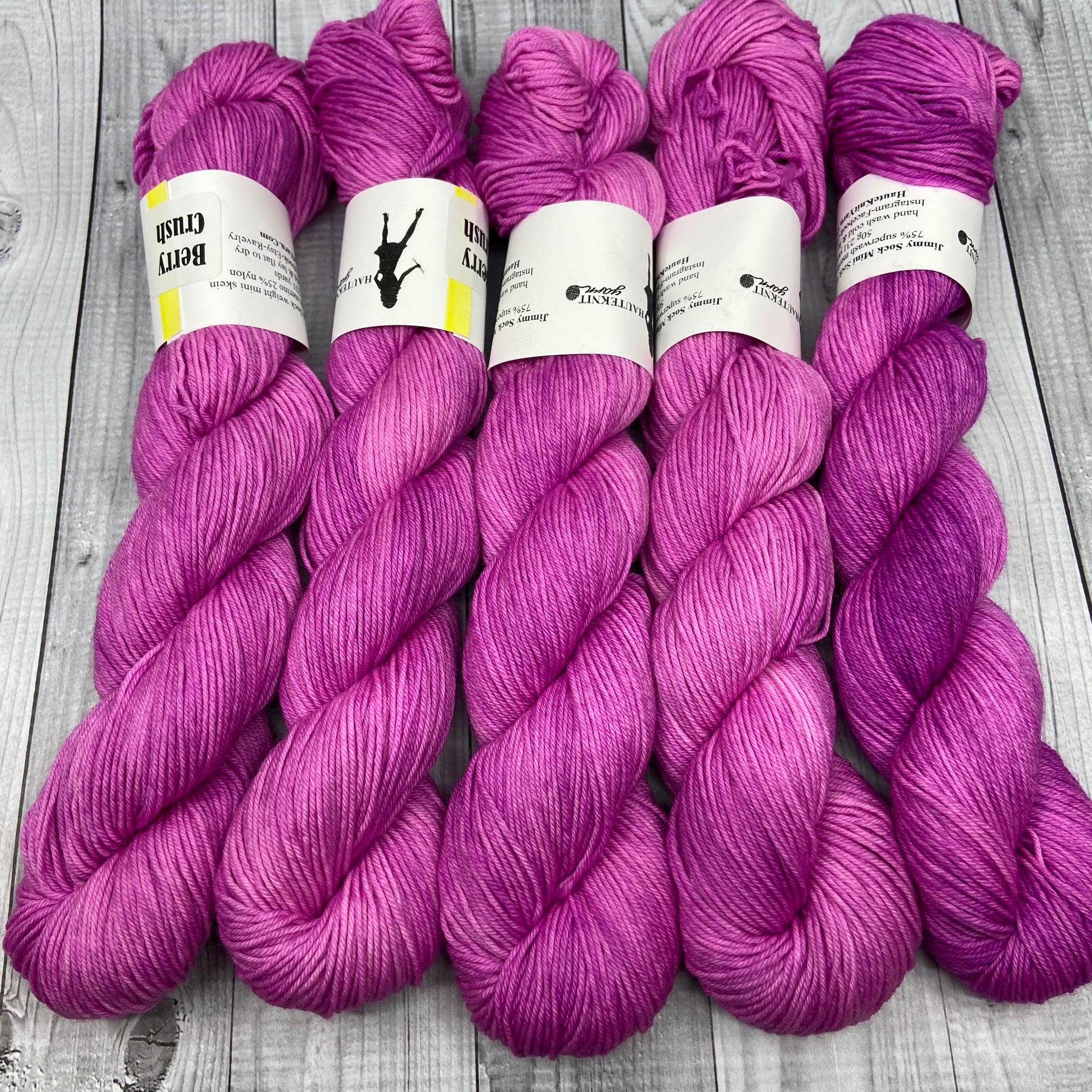 Jimmy Sock- Mini Skein - Berry Crush