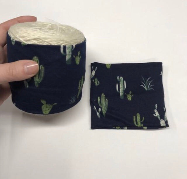 Yarn Cozy- Cacti on Navy