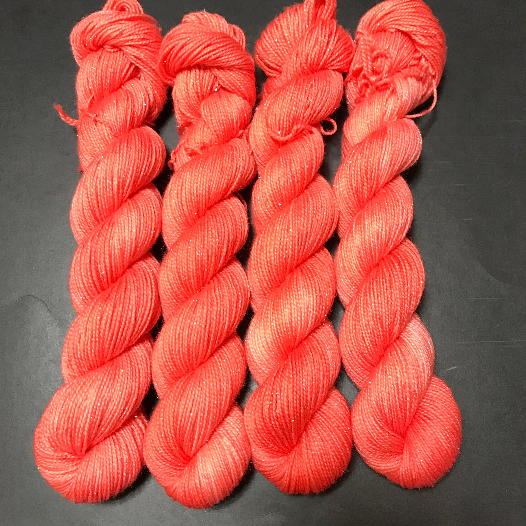 Pnina Sparkle Sock 50g Mini - Orange Pop