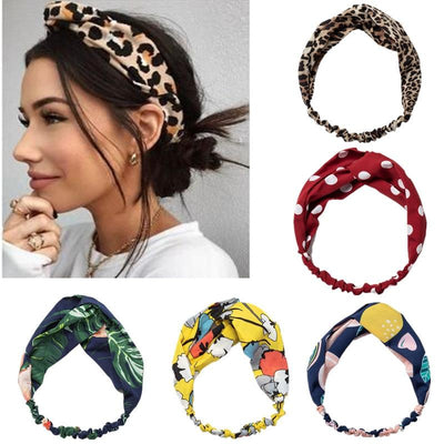 Hairband Vintage Estampada com Nó - Boutique da Beleza