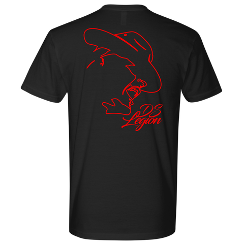 Outline Tee (Red Print)