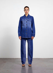 Panel Denim Shirt