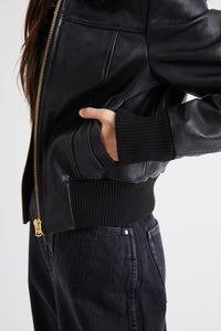 Heroes Leather Jacket-Black Leather